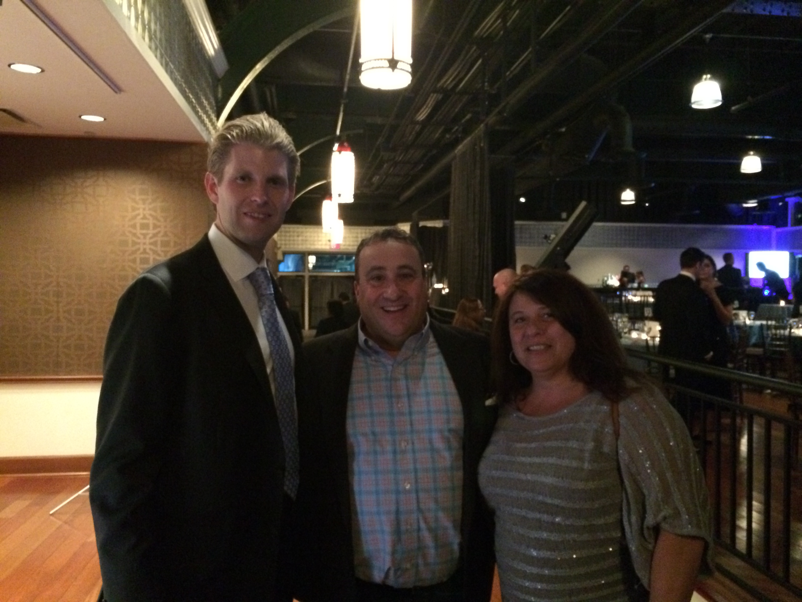 Brian with Eric Trump
